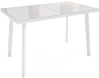 Обеденный стол Listvig Фин 120-152x70 (латте/белый) -