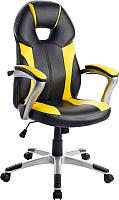 Кресло геймерское Mio Tesoro Франческо X-2763-2 (черный/желтый) -