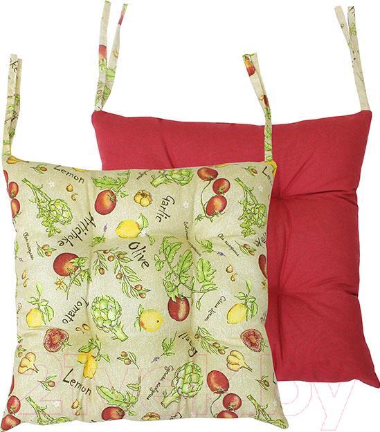 Купить Подушка на стул MATEX, Homely / 08-170 (бордовый/зеленый), Беларусь, хлопок
