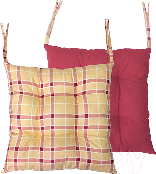Купить Подушка на стул MATEX, Homely / 08-194 (персиковый/ бордовый), Беларусь, хлопок
