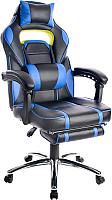 Кресло геймерское Mio Tesoro Марио X-2749 (черный/синий) -