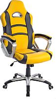 Кресло геймерское Mio Tesoro Роберто X-2743 (черный/желтый) -