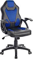 Кресло геймерское Mio Tesoro Пабло X-2756 (черный/синий) -