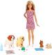 Кукла с аксессуарами Barbie Домашние питомцы / FXH08 -