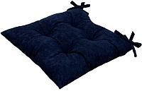 Подушка на стул MATEX Velours / 04-820 (темно-синий) -