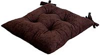 Подушка на стул MATEX Velours / 10-388 (темно-коричневый) -