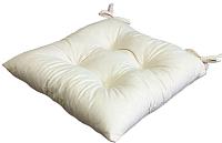 Подушка на стул MATEX Velours / 10-982 (молочный) -
