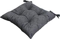 Подушка на стул MATEX Velours / 09-474 (серый) -
