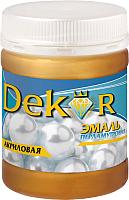 Эмаль Dekor Акриловая перламутровая (230г, серебристо-белый) -