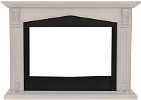 Портал для камина Смолком Praga FS33/FS33W (белый дуб/черный) -