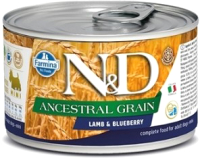 Корм для собак Farmina N&D Ancestral Grain Lamb & Blueberry Mini (140г) -