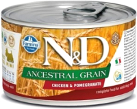 Корм для собак Farmina N&D Ancestral Grain Chicken & Pomegranate Mini (140г) -