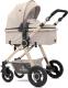 Детская универсальная коляска Lorelli Alexa 3 в 1 Beige Triangles (10021291965) -