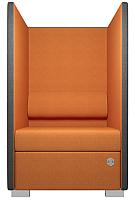 Кресло мягкое Kulik System Private Line 171/5001 (серый/оранжевый) -