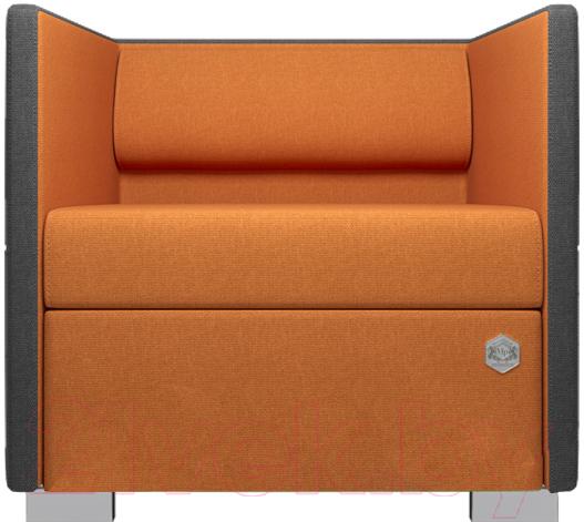 Купить Кресло мягкое Kulik System, Lounge Line 41/5007 (серый/оранжевый), Украина