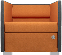 Кресло мягкое Kulik System Lounge Line 41/5007 (серый/оранжевый) -