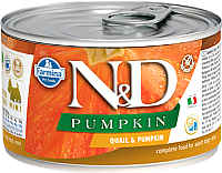 Корм для собак Farmina N&D Grain Free Pumpkin & Quail Mini (140г) -