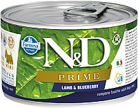 Корм для собак Farmina N&D Prime Lamb & Blueberry Mini (140г) -