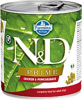 Корм для собак Farmina N&D Prime Chicken & Pomegranate Mini (140г) -