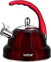 Чайник со свистком Vitesse VS-1117 (красный) -