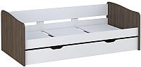 Двухъярусная кровать Polini Kids Simple 4210 (белый/трюфель) -