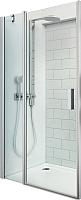 Душевая дверь Roltechnik Tower Line TDO1/90 (матовое серебро/прозрачное стекло) -