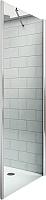 Душевая стенка Roltechnik Tower Line TB/90 (матовое серебро/прозрачное стекло) -