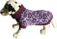 Свитер для животных Ami Play 160228429 (21см, цветы фиолетовые) -