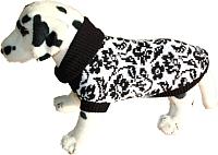 Свитер для животных Ami Play 160228481 (26см, цветы черно-белые) -