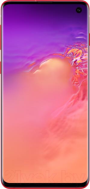 Смартфон Samsung, Galaxy S10 128GB / SM-G973FZRDSER (красный), Китай  - купить со скидкой