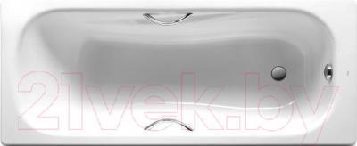 Ванна стальная Roca Princess 170x75 (с ручками и ножками) - общий вид