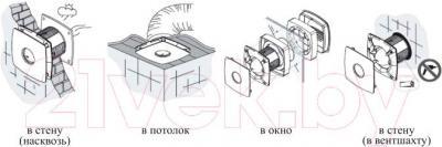 Вентилятор вытяжной Cata E-150 T - схема