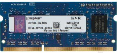 Оперативная память DDR3L Kingston KVR16LS11/4 - общий вид