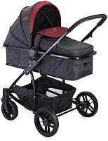 Детская универсальная коляска Lorelli S500 3 в 1 Black Red / 10020851733 -