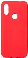 Чехол-накладка Case Matte для Redmi 7 (красный матовый) -