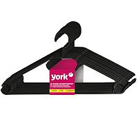 Набор вешалок-плечиков York Стандарт 10шт (черный) -