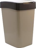 Мусорное ведро Алеана Евро 122067 (белая роза/какао) -