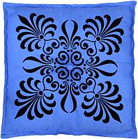 Подушка на стул MATEX 2D Декор 2 / 01-362 (голубой/темно-синий) -