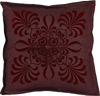 Подушка на стул MATEX 2D Декор 2 / 01-386 (темно-бордовый/бордовый) -