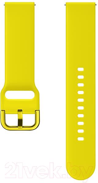 Купить Ремешок для умных часов Samsung, Galaxy Watch Active / ET-SFR50MYEGRU (желтый), Россия