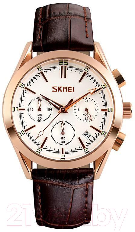 Купить Часы наручные мужские Skmei, 9127-3 (белый), Китай