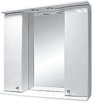 Шкаф с зеркалом для ванной Misty Астра 80 / Э-Аст04080-01Св -
