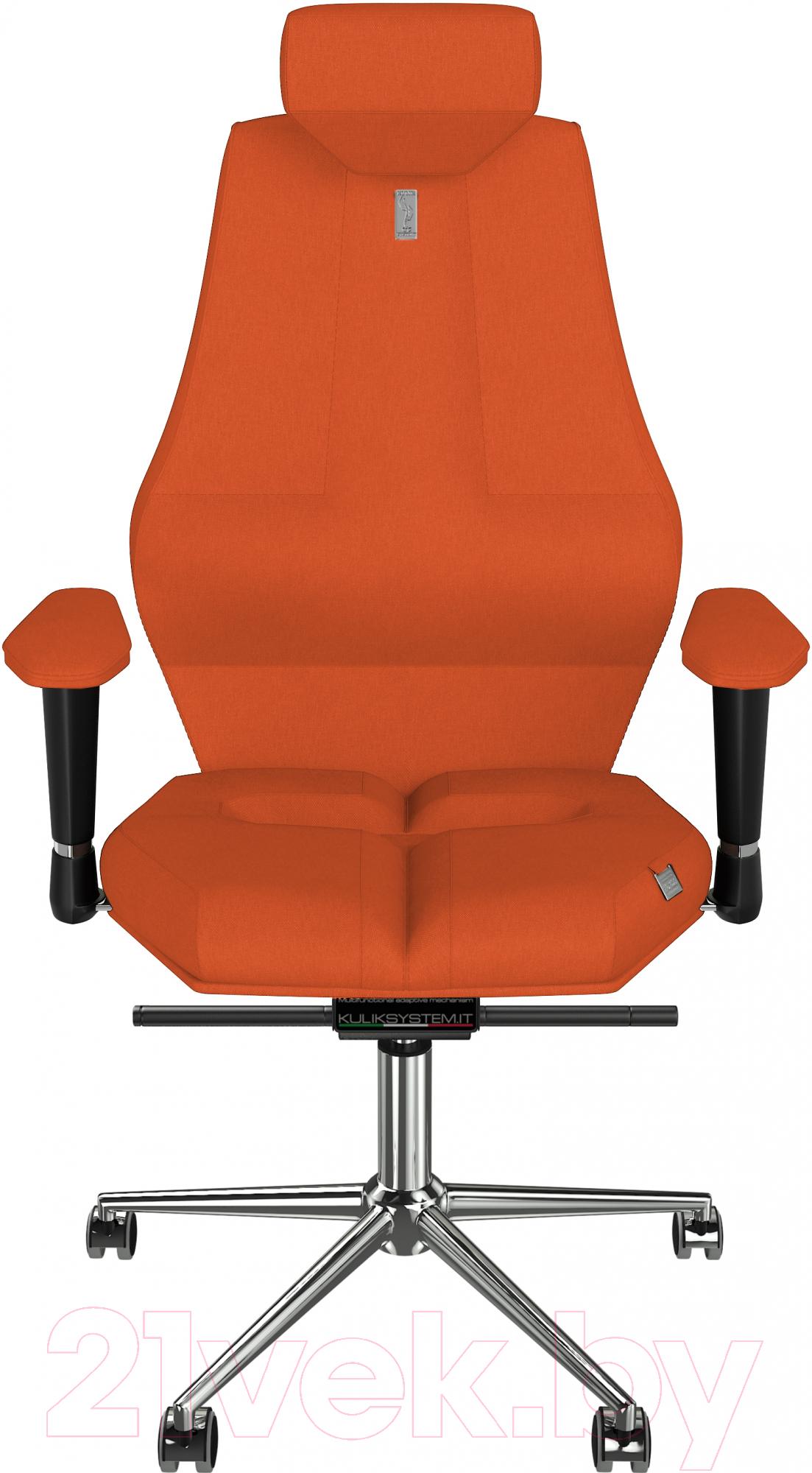 Кресло офисное Kulik System, Nano азур (оранжевый с подголовником), Украина, Nano (Kulik System)  - купить со скидкой