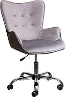 Кресло офисное Седия Bella (бархат серый) -
