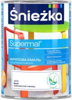 Эмаль Sniezka Supermal акриловая для ПВХ (750мл, белый) -