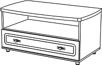 Тумба Мебель-Неман Романтика ВК-09-06 (орех темный) -