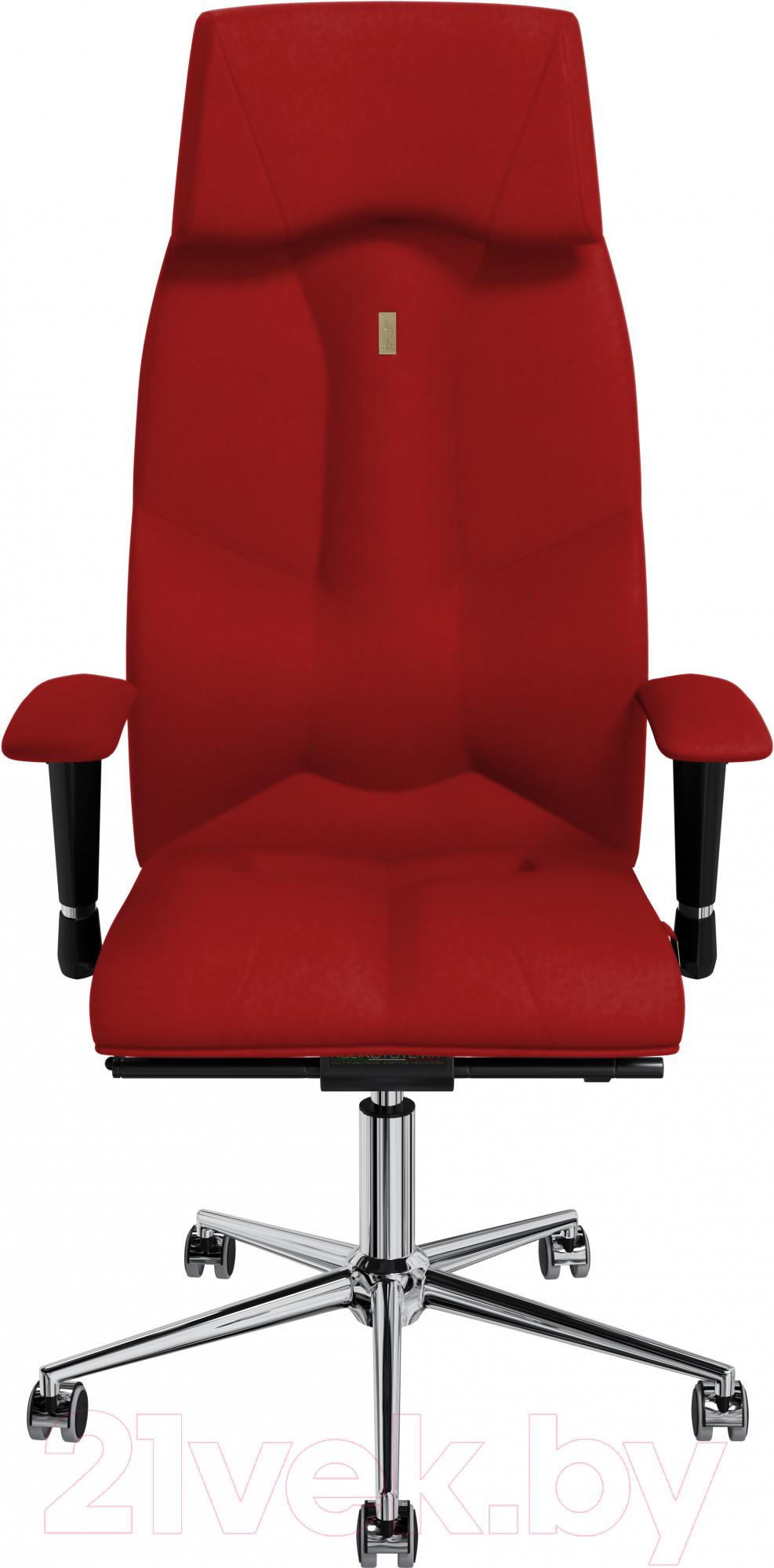 Купить Кресло офисное Kulik System, Business экокожа (красный с подголовником), Украина, Business (Kulik System)
