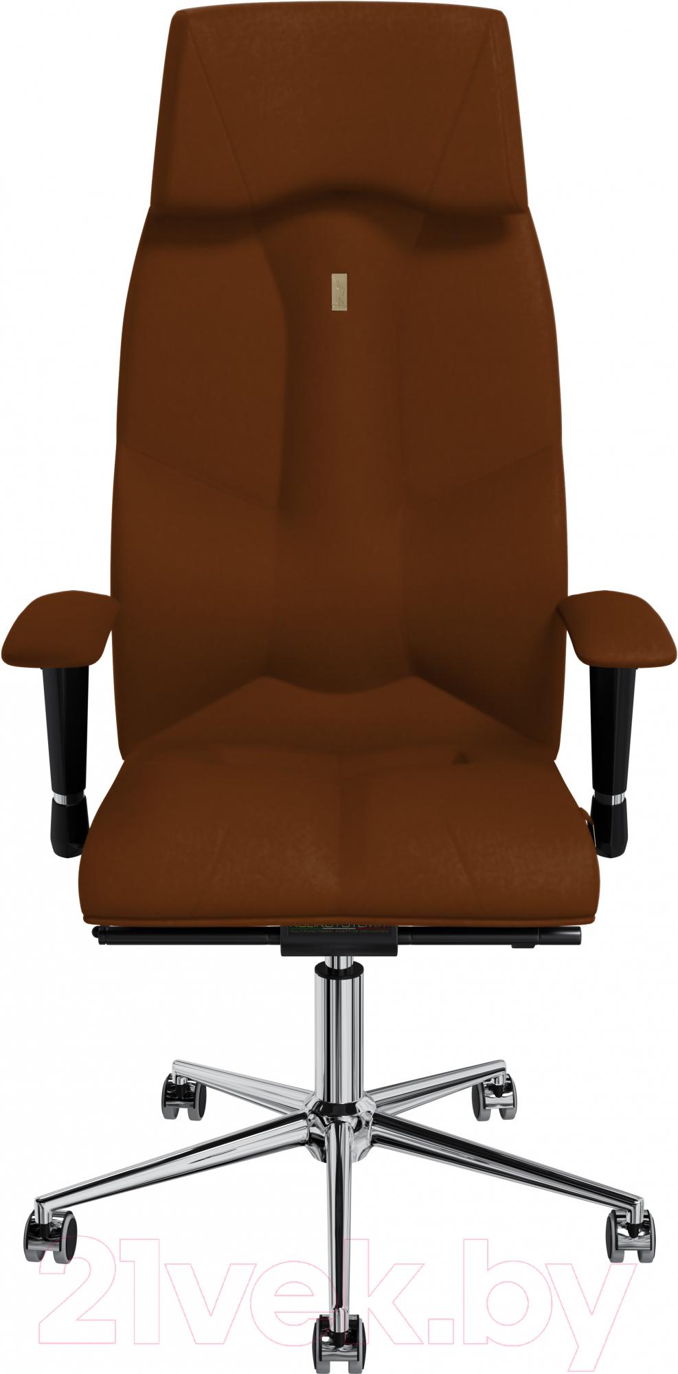 Купить Кресло офисное Kulik System, Business экокожа (коричневый с подголовником), Украина, Business (Kulik System)
