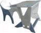 Комплект мебели с детским столом Интехпроект Техно 14-460 (голубой/серый) -