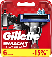 Сменные кассеты Gillette Mach3 Turbo (6шт) -